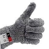 Touchscreen-Handschuhe-Cut Resistant Handschuhe, perfekt zum Kochen Angeln Nähen Handwerk und Arbeiten weg von Schnitten und Scrapes (Color : Gray, Size : M-1 Pairs)