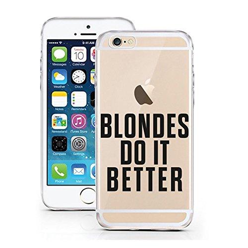 Blitz® FOYER motifs housse de protection transparent TPE caricature bande iPhone Vodka M4 iPhone 7 7s blondes do it better M16