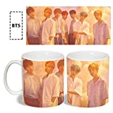 Loheag Clinor BTS LOVE YOURSELF Keramik Teetasse Kaffeetasse Becher Tassen Kaffeebecher Keramik Mug für Büro, Zuhause, Hotel, Bar und Täglicher Gebrauch