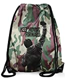 Stylotex ' Sac de gym Keep Moving Forward Hipster Sac Gym Bag Sac Sac stringbag, camouflage