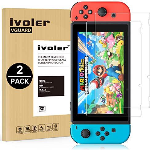ivoler [2 Unidades] Protector de Pantalla para Nintendo Switch, Cristal Vidrio Templado...