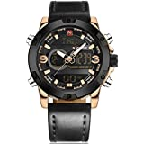 Naviforce Casual Watch For Men Analog-Digital Leather - NF9097-RG
