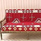 AFAHXX Verdickt Decke zu werfen,Quaste Dekoration Sofa Überwürfe Red Persönlichkeit Sofa Abdeckung-A 160x220cm(63x87inch)
