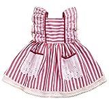 ♣ Tianya - Ausgefallene gestreifte Spitze gekräuselte Prinzessin Cake Pompous Party Kleid Kleinkind Kids Baby Girls