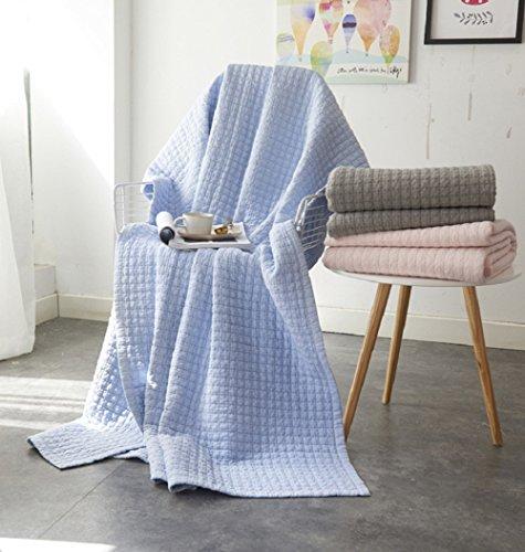 Alicemall Courtepointe Boutis Couvre Lit Boutis Couette Léger Edredon en Coton Plaid Parure de Lit Couverture Décoration de Lit 150*200cm 1.5kg (23)