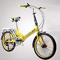 XYANG BK - Bicicleta de Viaje portátil Ligera de 20 Pulgadas, 6 velocidades, Plegable
