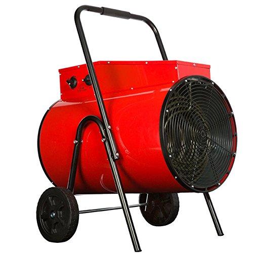 QFFL Réchauffeur de chauffage industriel de haute puissance 380V Réchauffeur électrique de magasin d'entrepôt rouge 645 * 645 * 565MM Refroidissement et chauffage ( Couleur : 15KW )