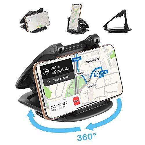 Modohe Supporto Auto Smartphone Universale Cruscotto Porta Cellulare Auto Supporto Girevole a 360°per iPhone XS Max/Xs/Xr/X/8/7/6s Plus, S10 S9 Note Huawei P20 Xiaomi et