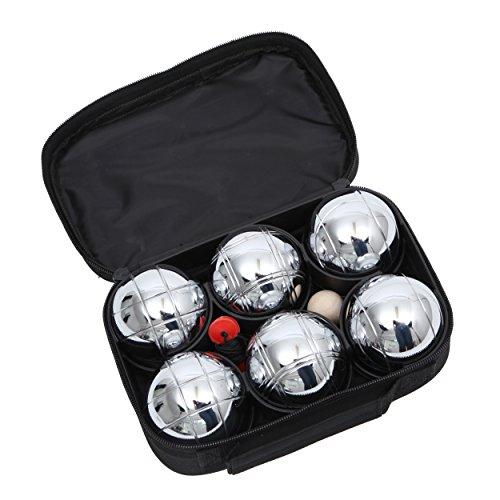 Preisvergleich Produktbild OCEAN 5 Boule Set 6 Teilig - inklusive Zielkugel, Maßband und praktischer Nylontasche - für den Park, Garten oder im Sommer-Urlaub