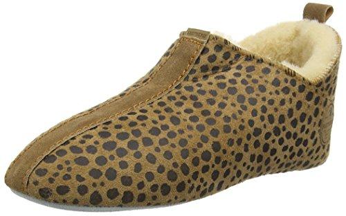 Shepherd Lina, Chaussons femme Marron - Brown (Leopard 43)