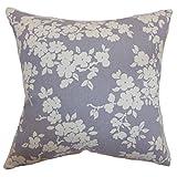 Das Kissen Collection Residenz Kissenbezug, Blumenmuster, Blau