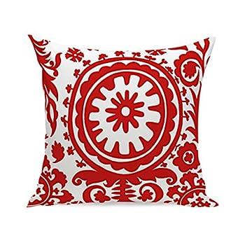 Madaye Rouge Géométrie oreiller housse de coussin Moderne Style