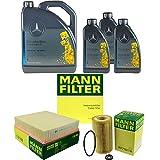 Filter Set Inspektionspaket 8 Liter Original Motoröl 5W-40 MB 229.5 MANN-FILTER Innenraumfilter Luftfilter Ölfilter