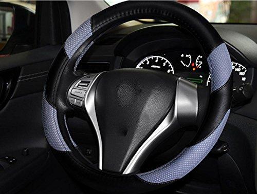 Preisvergleich Produktbild Auto Lenkradbezug Bettwäsche + Mikrofaser Leder vier Jahreszeiten Universal Lenkradabdeckung 38cm ,  1