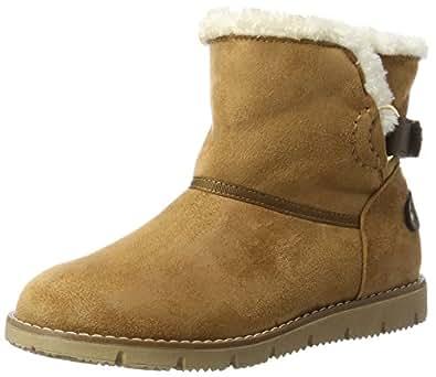 TOM TAILOR Damen 3793102 Schlupfstiefel, Braun (Camel), 39 EU