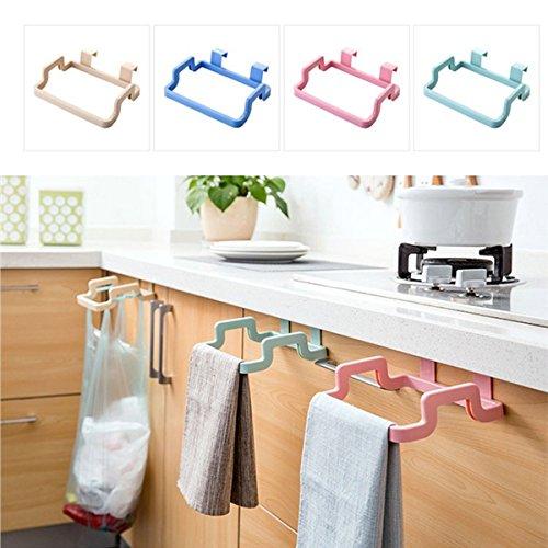 ourleeme 1PP über Tür Haken Handtuch Bar Rack Halter Küche Hängende Aufbewahrung Garbage Bag Halter Grün - Hängende Handtuch Bar