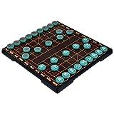 Zantec Farbiges magnetisches Reise Set 12 3 / 4`` Jade Farben chinesisches Schach Xiangqi