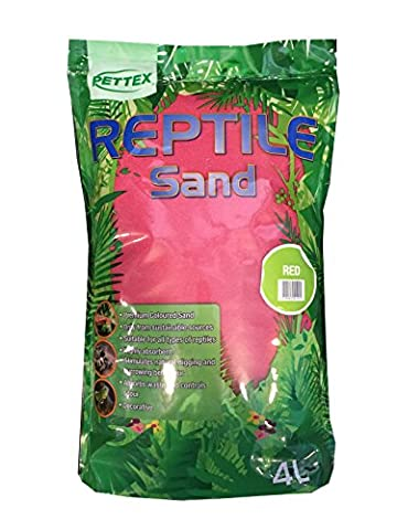 Pettex Reptile Coloured Calci Sand, 4 Litre, Red