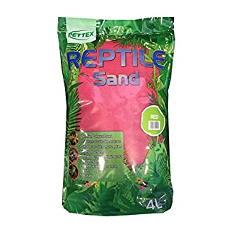 Pettex Reptile Coloured Calci Sand, 4 Litre, Red 51tXfxVqETL