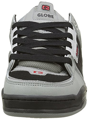 Globe Herren Fusion Sneakers Grau (Grey/Black/Red)