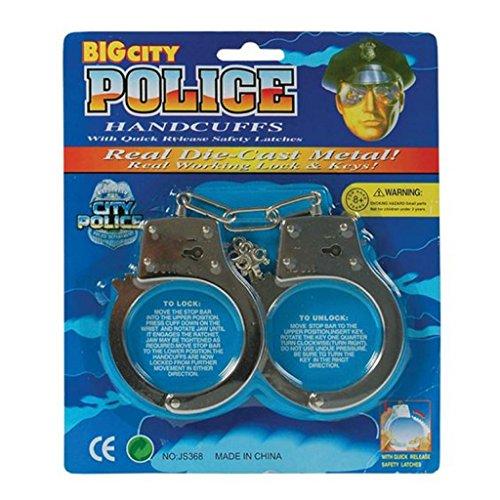 Une paire de menottes en métal. Ideal pour mettre les méchants en état d'arrestation. ( X24 )