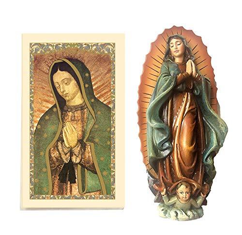 10,2cm Our Lady of Guadalupe Statue mit laminiertem Gebet Karte im lieferumfang enthalten. estatuilla de la Virgen de Guadalupe (10,2cm H)-Incluye Tarjeta de oración