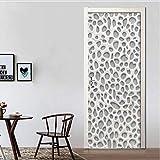 Adesivo Per Porte 3D Nordico Moderno Intonaco Carta Da Parati Murale Pvc Adesivo Adesivo Adesivo Per Porte Soggiorno Decorazioni Per La Casa Poster 95X215 Cm