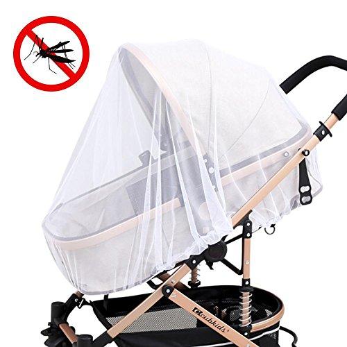 Zanzariera per passeggino passeggini, leegoal seggiolini auto, bassinets e vettori, ad alta densità baby zanzariera, ultra fine mesh protezione contro le zanzare