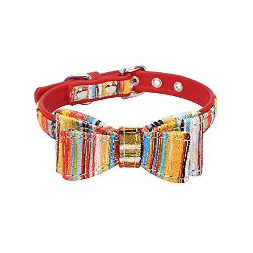 mit Mode-Muster Exquisite und niedlicher Druck - geeignet für Welpen und Katzen - Farbe: Rot/Blau/Rosa/Rosa - Größe 4 ()