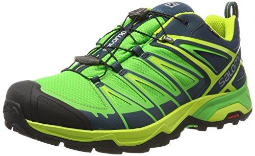 Salomon Ultra 3 Gtx, Chaussures de Randonnée Basses Homme Vert (Reflecting Pond/granny Green/lime Green)