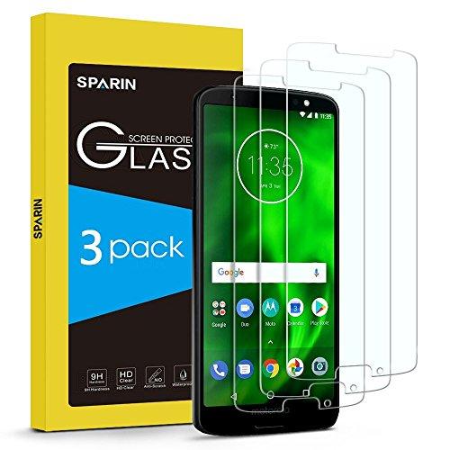 Sparin [3 Stücke] Moto G6 Schutzfolie[NICHT für Moto G6 plus & G6 Play], Bildschirmschutzfolie Panzerglas mit [Anti-Kratz] [Blasenfrei] [2.5D Rand] [HD Klar]