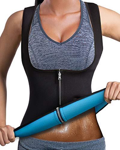 94bbec3b72126 LaLaAreal Women Slimming Vest Hot Sweat Top for Weight Loss Waist Trainer  Neoprene Workout suit Cincher