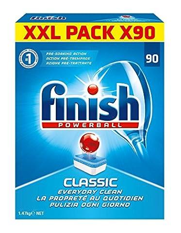 Finish Pack de 90 Lave Vaisselles Tablettes Classic Power