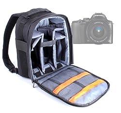 Duragadget Black Rucksack With Adjustable Padded Interior For Nikon 1j 2, Sony Nex-7, Sony Nex7kb.ceh Digital Compact System Camera With 18-55 Lens Kit, 3.0 Inch Lcd Screen & Sony Nex-6