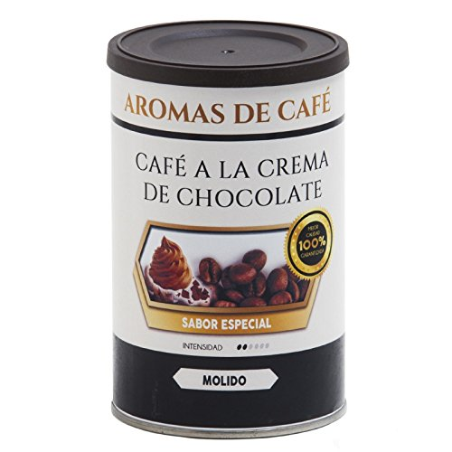 Aromas de Café - Café a la Crema de Chocolate 100% Arábica Tostado en Grano/Café Tostado en Grano Sabor Chocolate Intensidad Suave e Intenso, 100 gr