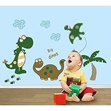 huntgold x adhesivo de dinosaurios diy infantil decoracin para el hogar de adhesivo decorativo para pared