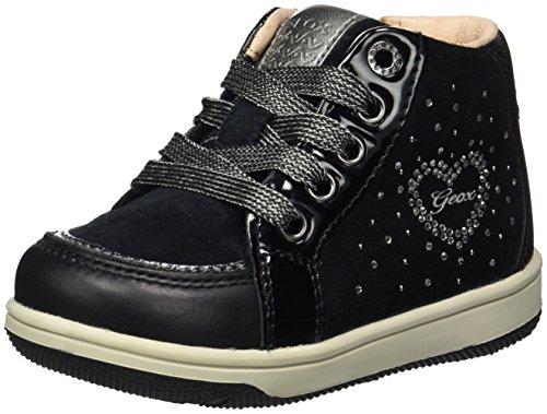 Geox Baby Mädchen B New Flick Girl D Sneaker, Schwarz (Black), 23 EU