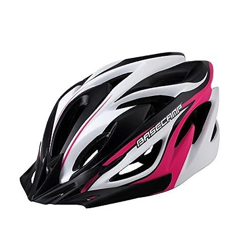 260g Ultra léger - casque de vélo de qualité supérieure d'air de qualité spécialisé pour la route et le vélo de montagne - casques certifiés de sécurité de vélo pour les hommes et les femmes adultes, garçons et filles d'adolescent - confortable, léger, respirant la protection de sécurité ( Color : Rose red )