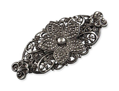 Rivelle Damen Trachten Haarspange Lina Haarschmuck Vintage Hochzeit Metall Silber