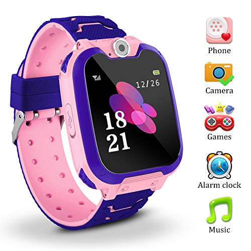 Kinder SmartWatch Phone Digital Camera Watch with Games Music Player Alarm Clock and 1.44 inch Touch LCD for Boys Girls Birthday