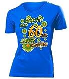 60er Jahre Kostüm Kleidung 791 Damen T-Shirt Frauen Karneval Fasching Faschingskostüm Karnevalskostüm Paarkostüm Gruppenkostüm Blau XXL
