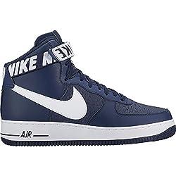 Nike Air force 1 High 07 Sneaker Trainer (41 EU, navy/white)
