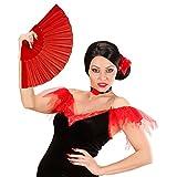 Ventalle español Flamenco Abanico Rojo Abano Veraniego Soplillo de Mano Flabelo Bailarina Ventalle japonés
