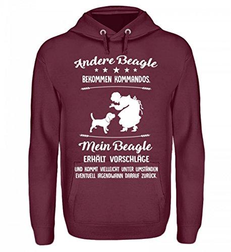 Beagle Pullover Kapuzenpullover Hoodie Für Damen Und Herren - Hunde Fun Pulli Mit Spruch - Geschenk Idee Für Hundebesitzer -