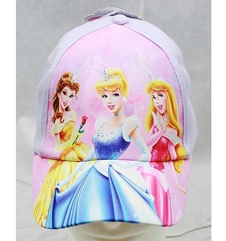 Baseball Cap - Disney - Princess - White 3 Hat (Youth/Kids) New Hat prs25526st-u