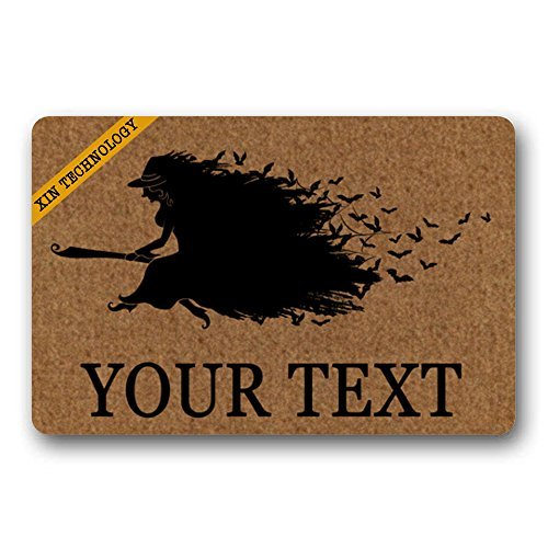 Artsblaba Fußabtreter mit Text Hauseingang Hexe Doormats Monogram rutschfeste Fußabtreter non-woven-Teppich-Matte für Eingangsbereich, Matte 23,6x 15,7cm