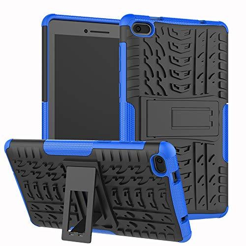 xinyunew Lenovo tab E7 7.0 Hülle, Handyhülle Case 360 Grad Ganzkörper Schutzhülle+Panzerglas Schutzfolie Schützend Handys Schut zhülle Tasche Cover Skin mit Ständer für Lenovo tab E7 7.0 Blau