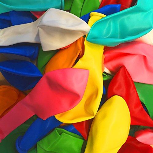 55 Luftballons Bunt & Farbenfroh - geeignet für Befüllung mit Luft oder Helium