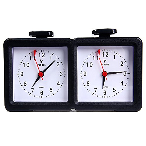 Reloj Analógico Mecánico Ajedrez de Cuarzo