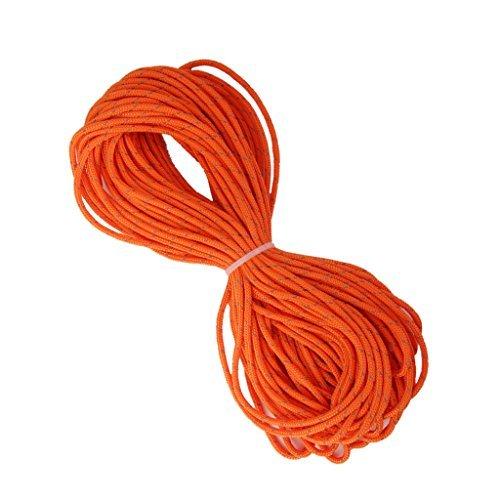 3mm De Color Naranja Reflectante Línea Chico Tienda Paracord Cuerda Cuerda Del Acampar 20m